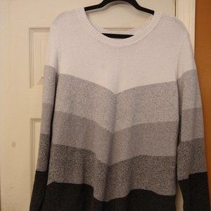 Apt. 9 Striped Long Sleeved Sweater 2X